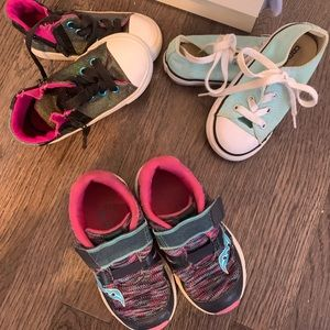 Toddler girl converse and saucony